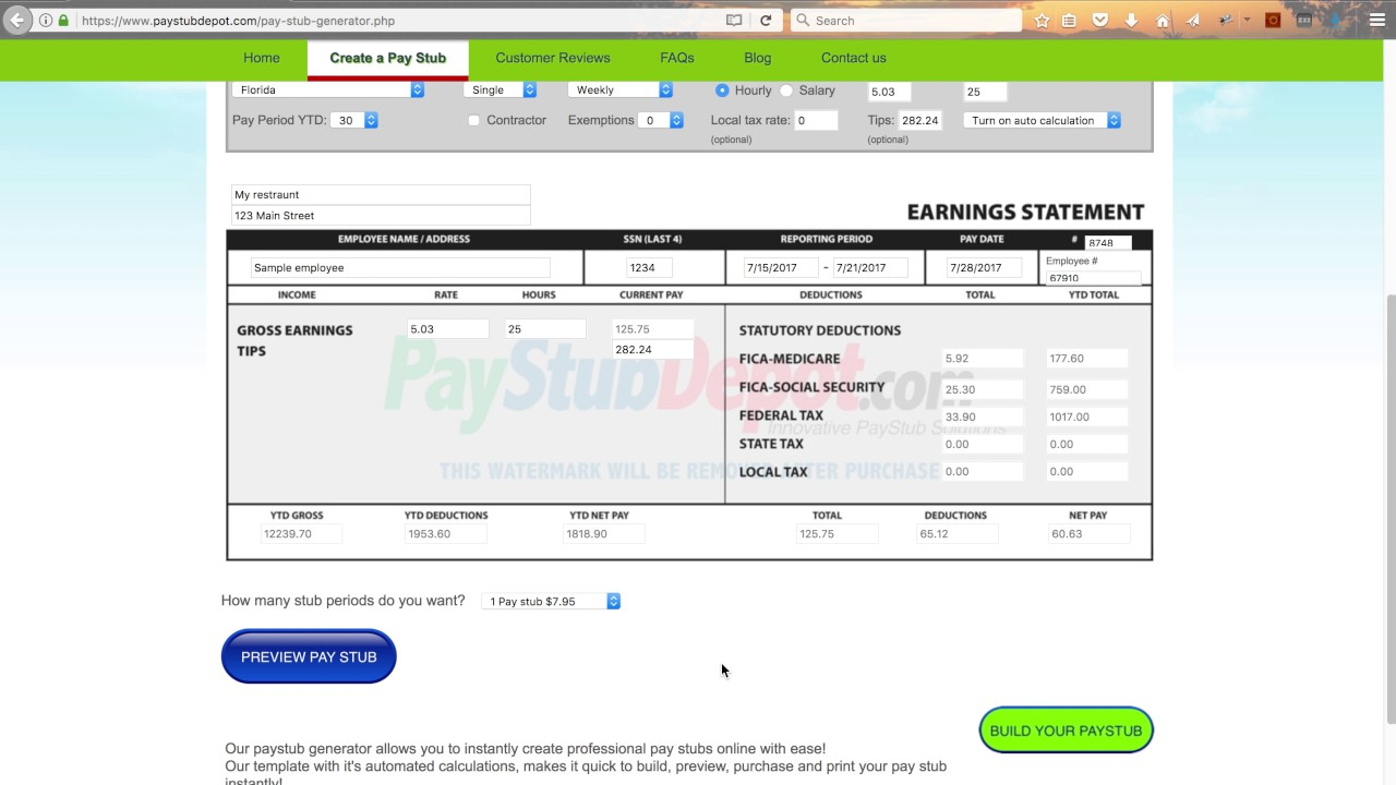 how to make pay stubs on quickbooks