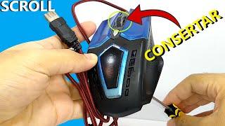 Como consertar scroll rolagem do mouse parte 1 - fazendo reparo usando palito e cola instantânea