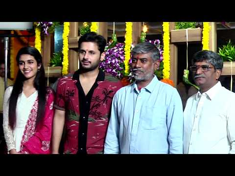 Nithin New Movie Launch | Chandra Sekhar Yeleti | Priya Varrier