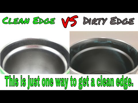 One easy way to get a clean edge when Powdercoating a YETI.