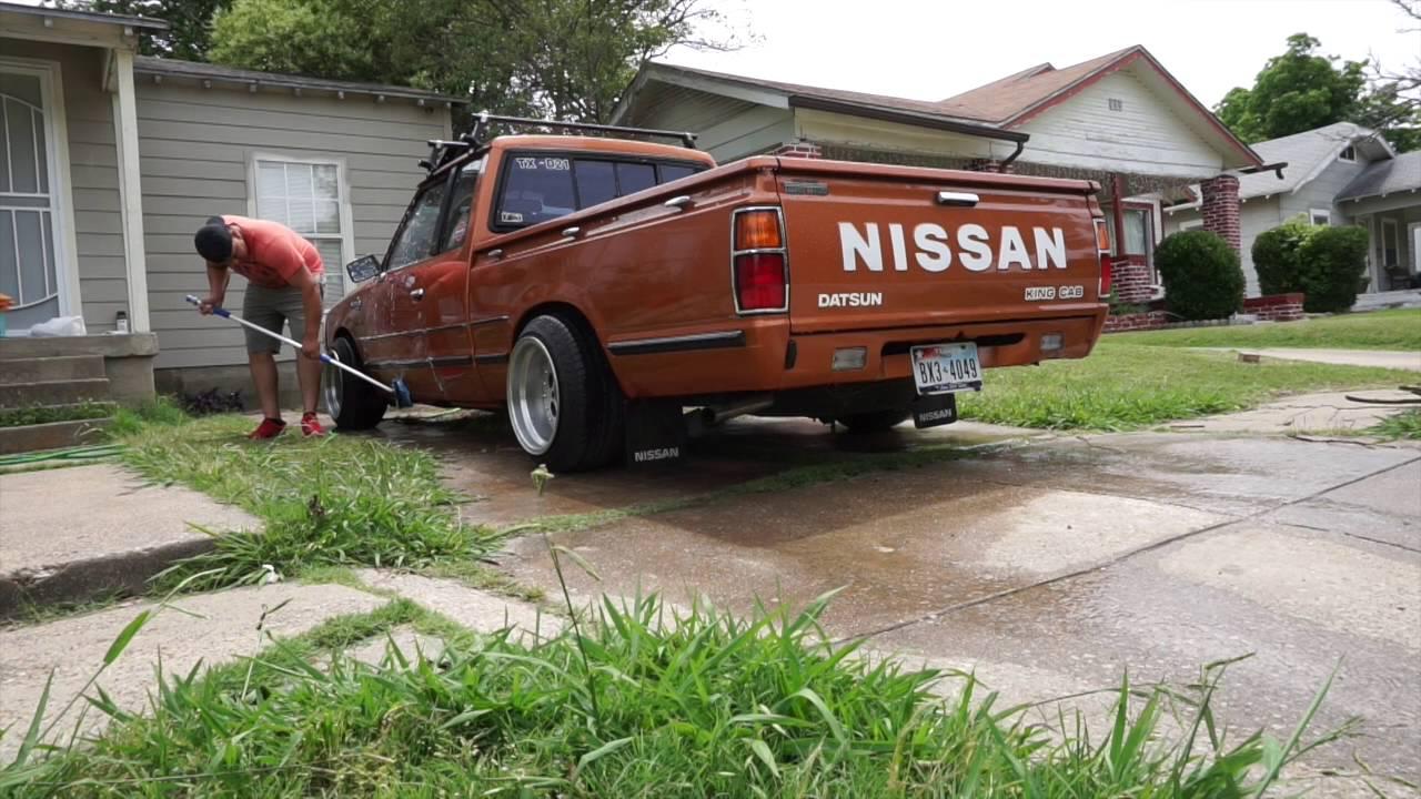 83 nissan 720 wash - YouTube