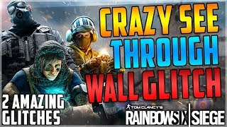 AMAZING NEW SEE THROUGH A SOLID WALL GLITCH + THE BEST HIDING SPOT EVER (Rainbow Six Siege)