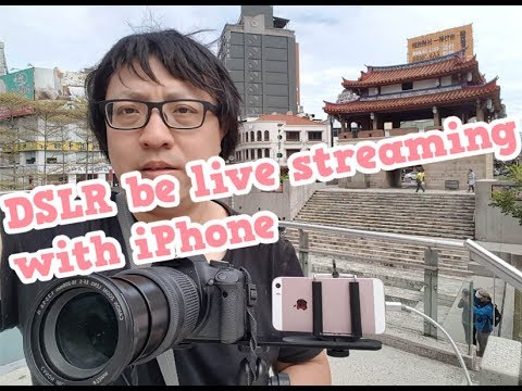 DSLR As External Camera For IPhone With Facebook Live Stream