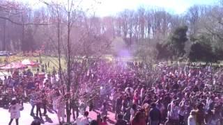 Holi celebration in Hare Rama Hare Krishna temple Washington