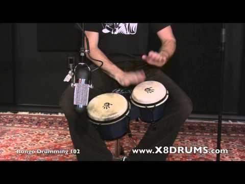 Free Bongo Lesson - 6/8 Rhythm Variation - X8 Drums
