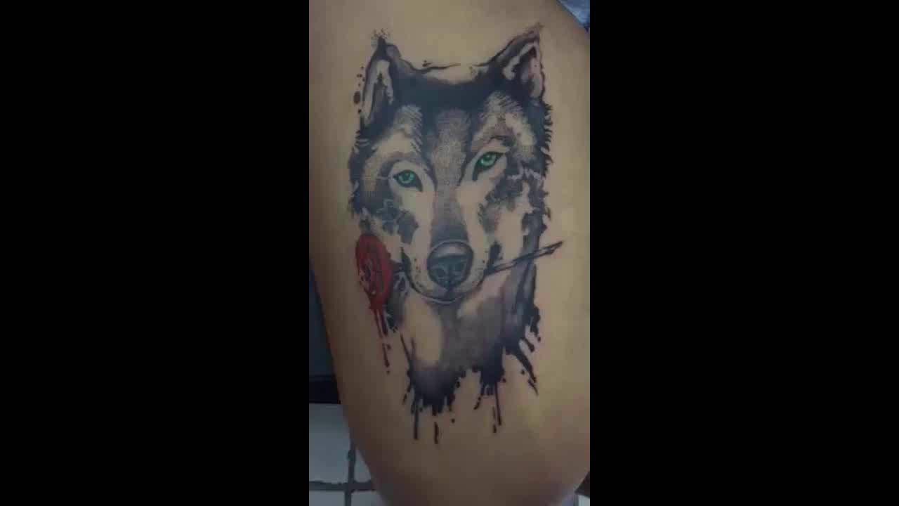9d4717280 Bless Art tattoo - Arte Lobo - YouTube