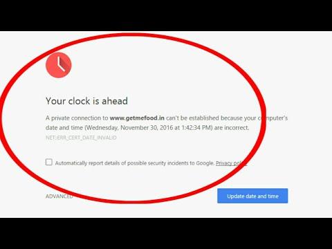 How to fix clock error