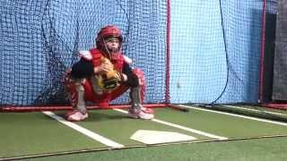 10U Catcher Breaking In New Mitt 11-18-14