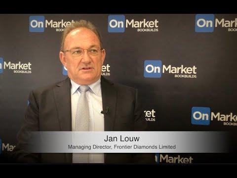 OnMarket IPO - Frontier Diamonds (ASX:FDX) interview with MD, Jan Louw.