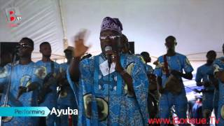 Ayuba at Late CHIEF MRS HID AWOLOWOS final Burial Ceremony 25112015