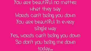 Christina Aguilera - Beautiful (with lyrics)