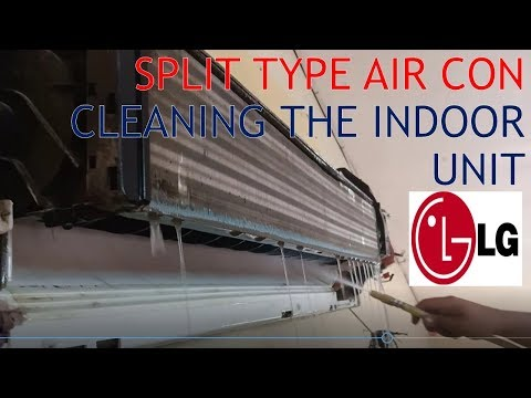 AIR CON CLEANING LG SMART INVERTER INDOOR UNIT 2HP PART 1