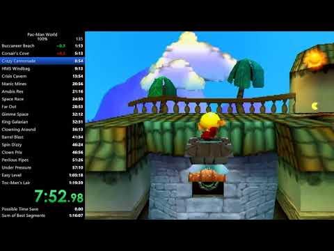 Pac-Man World 100% Speedrun In 1:19:34