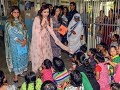 Nita Ambani visits specially-abled kids with Isha and Shloka