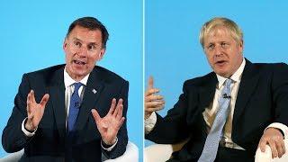 Watch again: Boris and Hunt take part in Tory leadership hustings