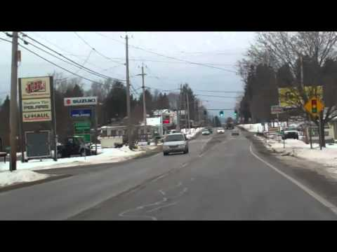 Driving  from Portville to Olean, NY Jan. 2012