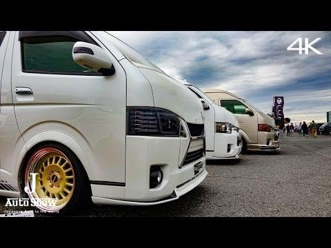 (4K)カスタムハイエース流し撮り スーパーカーニバル2016 - many modified TOYOTA HIACE booth تويوتا هايس