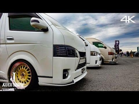 4K 2016 Many Modified Toyota Hiace Booth Toyota Hays