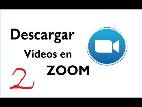 Actualizado Como descargar videos en Zoom
