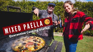 Cooking SPANISH MIXED PAELLA With Chicken, Seafood And Chorizo! 🥘 | Delicious SPANISH FOOD At HOME