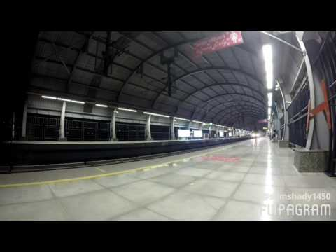 Delhi Metro train India timelapse