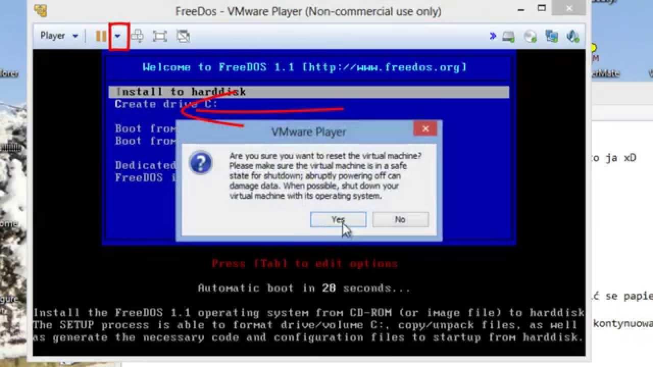 Freedos Install