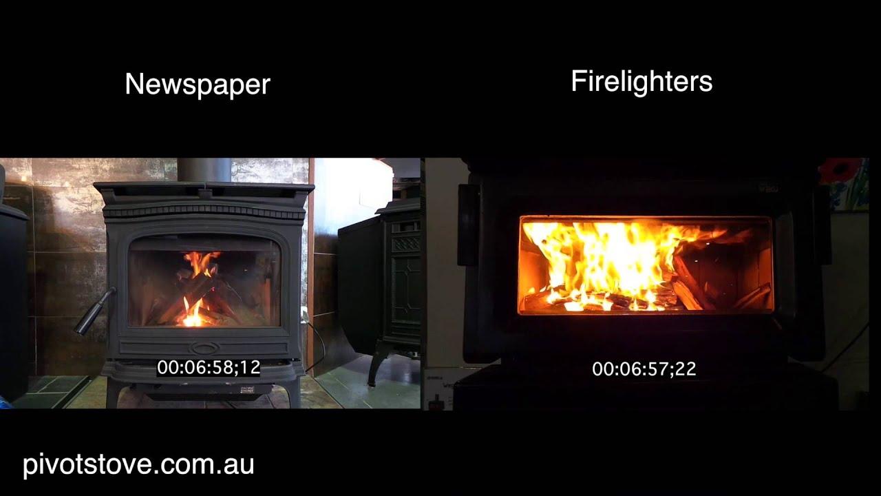 lighting fire paper vs firelighters youtube