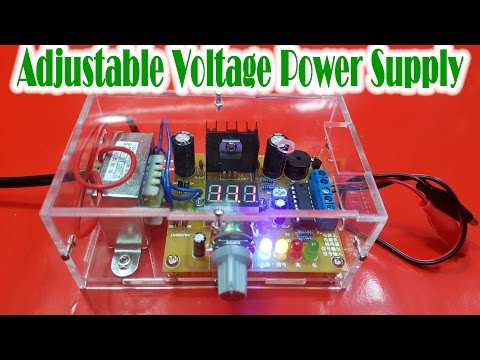 How to Assembling LM317 Adjustable Voltage Power Supply KIT DIY