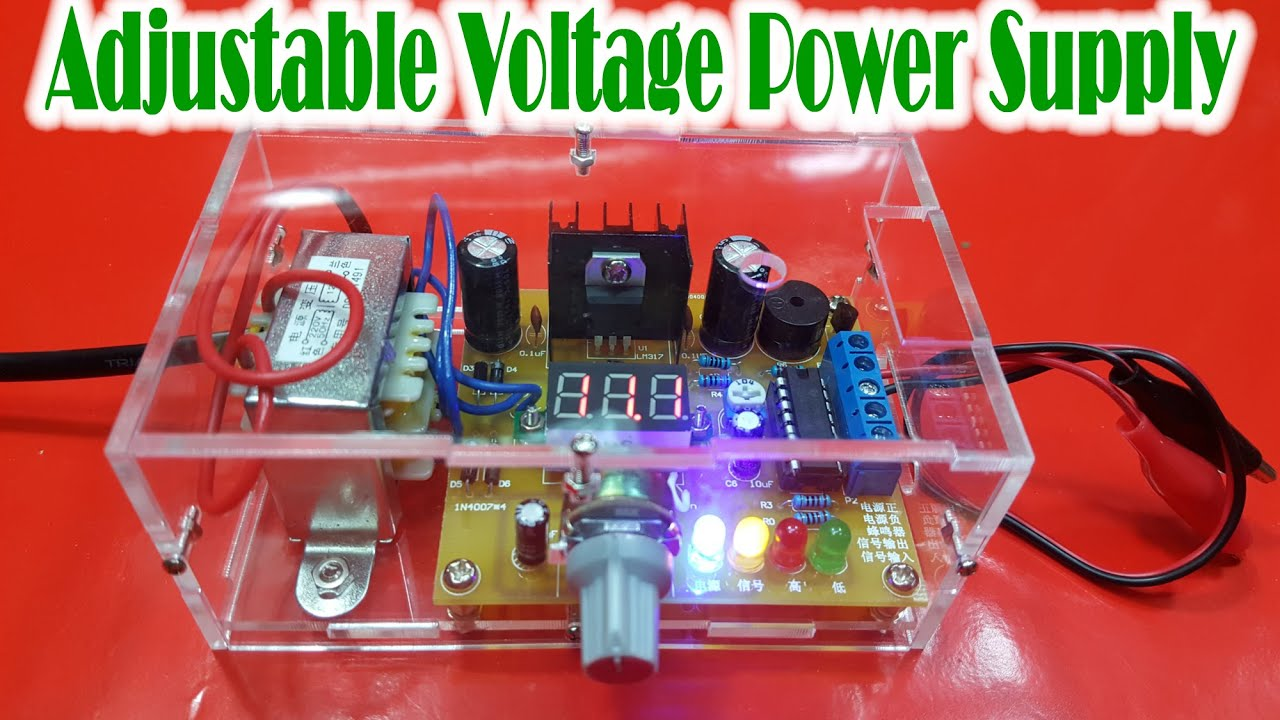 How To Assembling Lm317 Adjustable Voltage Power Supply