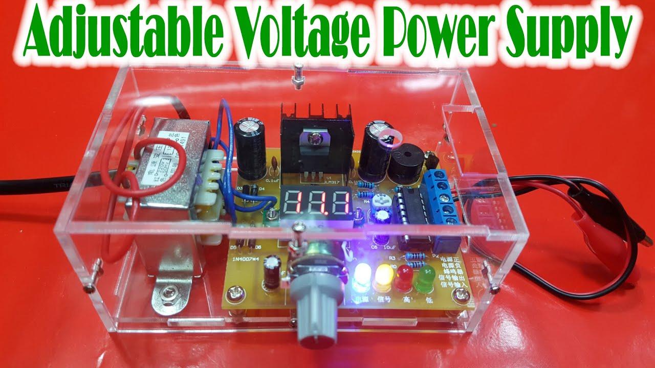 Adjustable Voltage Regulator Circuit Lm317 Schematic