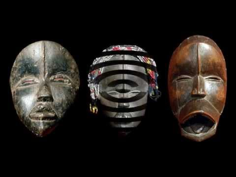 Africain masks at quai Branly museum - Paris
