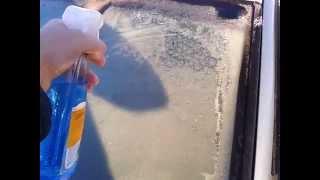 Размораживатель Sonax - нанесение