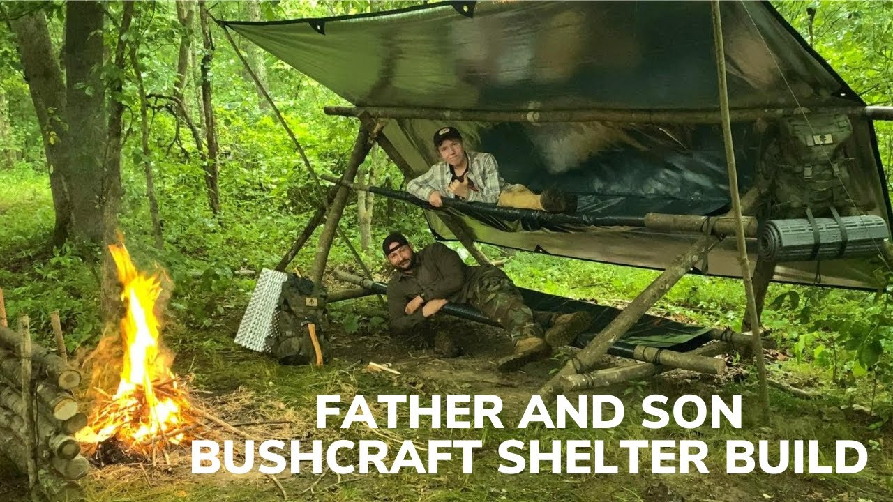 Overnight in Bushcraft Bunkbeds During a Lightning Storm With My Son and Bacon and Cheese Burritos