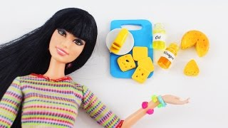 How to make realistic oil, vinegar, butter & cheese for your dolls - Doll Crafts - simplekidscrafts