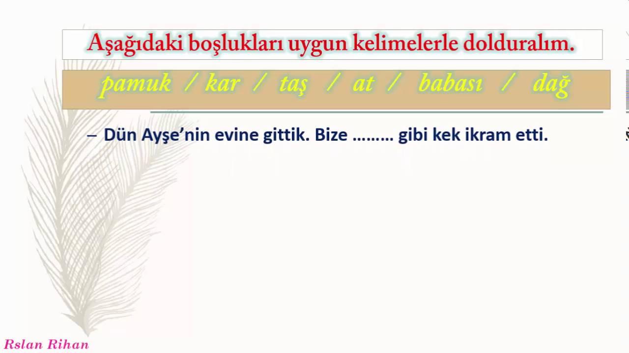 تعلم اللغة التركية (الدرس 9 من المستوى الثاني A2 ) (الرابطة gibi , kadar)