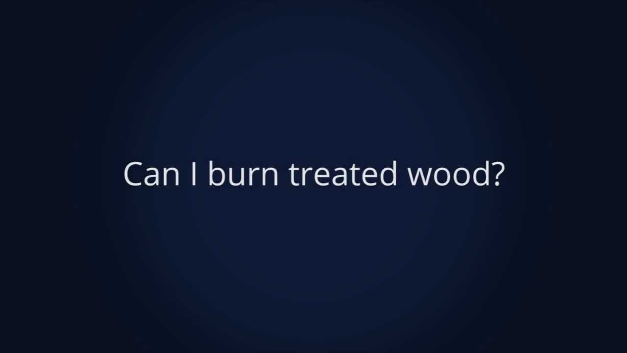 Can I burn treated wood? - YouTube