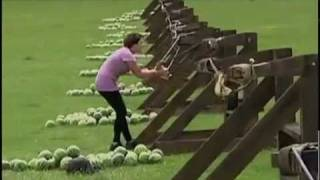 Girl Gets Watermelon Catapult In The Face!!!  *epic Sound*
