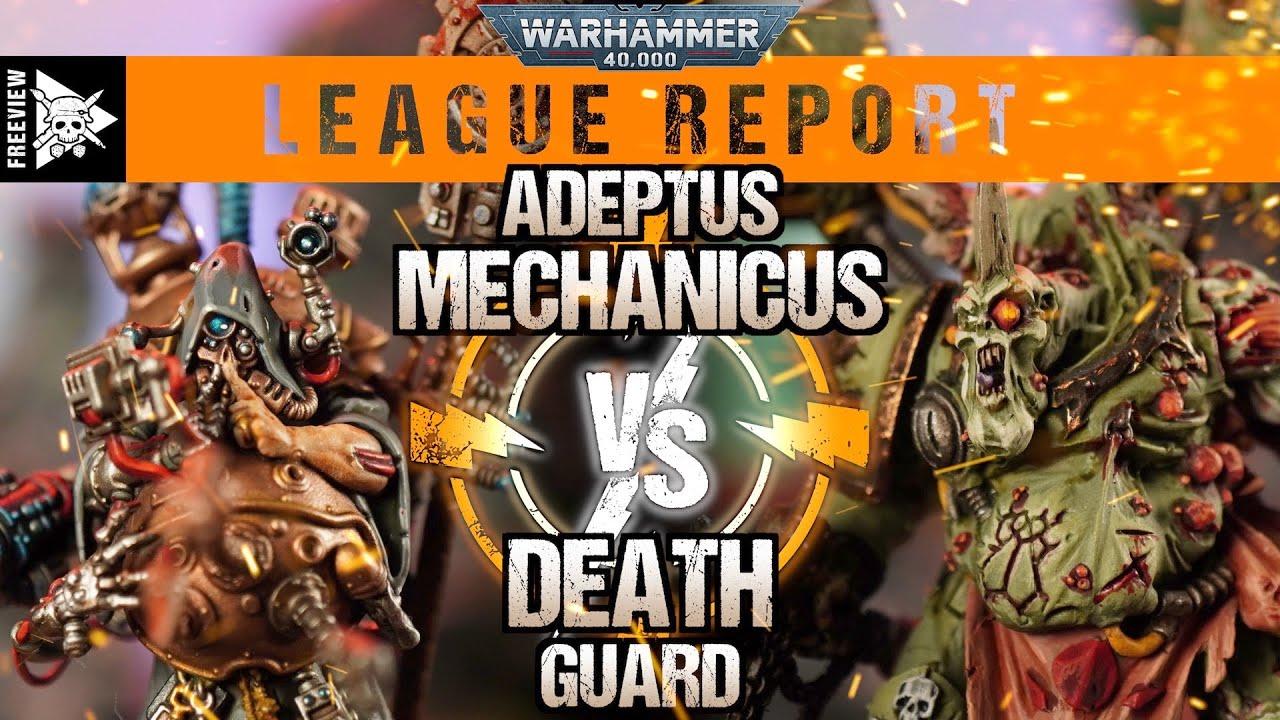 Adeptus Mechanicus vs Death Guard 2000pts | Warhammer 40,000 League Report