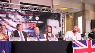 TYSON FURY EMBRACES JOSEPH PARKER IN SIGN OF RESPECT