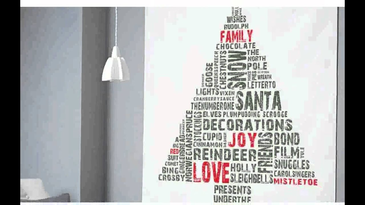 Christmas Wall Decoration - Pictures New - YouTube