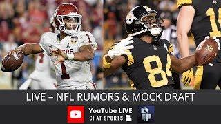 NFL Rumors, Antonio Brown Trade, Nick Foles, Gerald McCoy, 2019 NFL Mock Draft & Kyler Murray