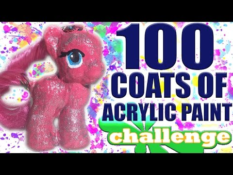 100 LAYERS OF ACRYLIC PAINT CHALLENGE! (Peeling Off Pony Skin)