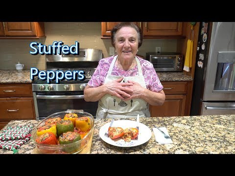 Italian Grandma Makes Stuffed Peppers