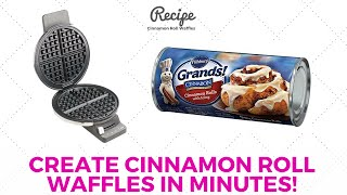 Cinnamon Rolls Recipe - Canned Cinnamon Rolls In A Waffle Maker