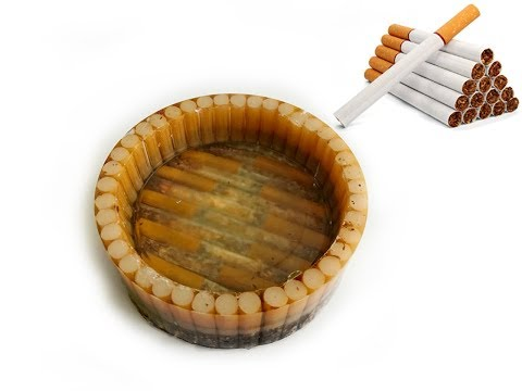 DIY Ashtray | An Ashtray From Cigarettes By Epoxy Resin In 10 Minutes | Resin Ashtray
