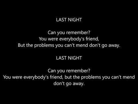 The Sherlocks - Last Night (Lyrics)