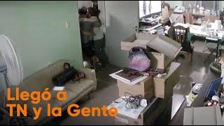 El emotivo video del terremoto en San Juan: una familia se abrazó para protegerse