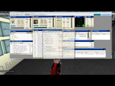 Tutorial on how to use SAM broadcaster with second life to DJ
