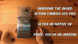 AKASO V50 Pro action camera UNBOXING