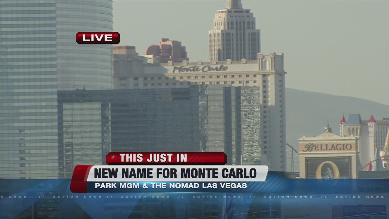 Monte Carlo Hotel Las Vegas >> Monte Carlo In Las Vegas Is Getting A New Name